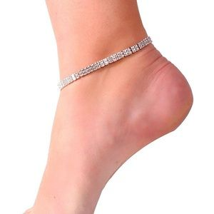 NEW Rhinestone 1 Anklet Spring Summer Jewelry